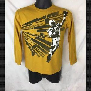 Yellow Long Sleeve Shirt Boys Size 10 / 12 L
